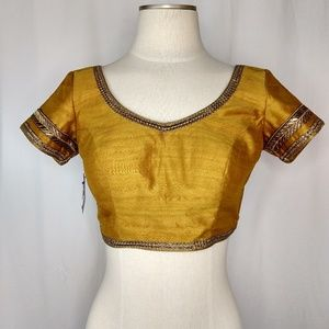 Gold Embellished Belly Dancing Festival Top